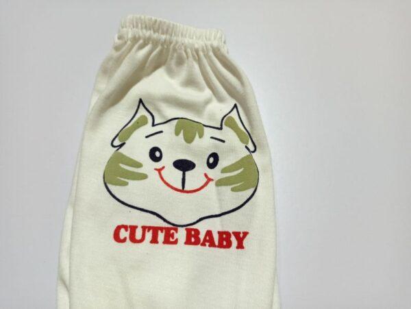 شلوار نوزاد طرح گربه