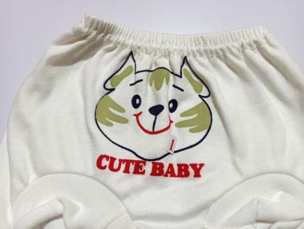شورت عینکی نوزاد طرح گربه