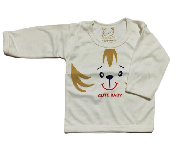 تیشرت آستین بلند نوزادی طرح گربه